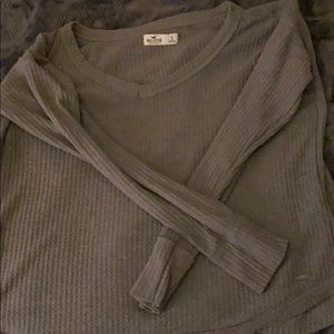 Hollister Grey thin comfy sweater